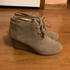 Toms Desert Taupe Bootie/Wedges